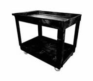 Rubbermaid 9T67 2 Shelf Utility Cart, 4 (10.2 cm) Casters