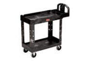 Rubbermaid 4500-88 HD 2-Shelf Utility Cart w/Lipped Shelf (Small)